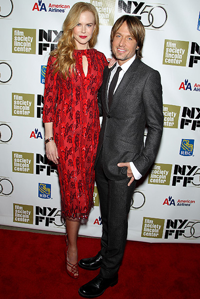 Keith Urban and Nicole Kidman at the Nicole Kidman Gala Tribute during the 50th annual New York Film Festival in New York City