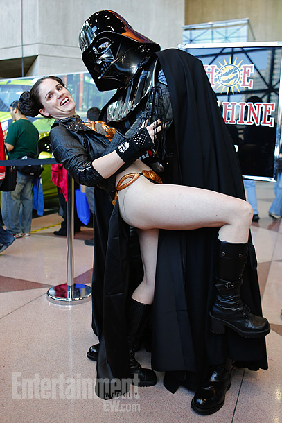 Slave Leia and Darth Vader