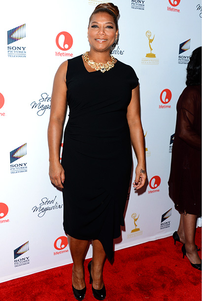 Queen Latifah at the premiere of Steel Magnolias in New York City