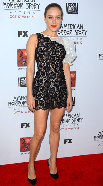 Chloe Sevigny (in Valentino) at the season 3 premiere of American Horror Story in Los Angeles