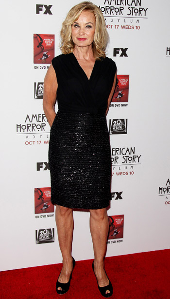 Jessica Lange (in Max Mara) at the season 3 premiere of American Horror Story in Los Angeles