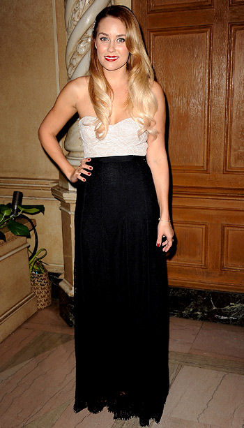 Lauren Conrad (in Paper Crown) at the Design for the Cure Gala for the Susan G. Komen Foundation in Los Angeles