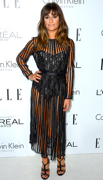 Lea Michele (in Zimmerman) at Elle's 19th annual Women in Hollywood celebration