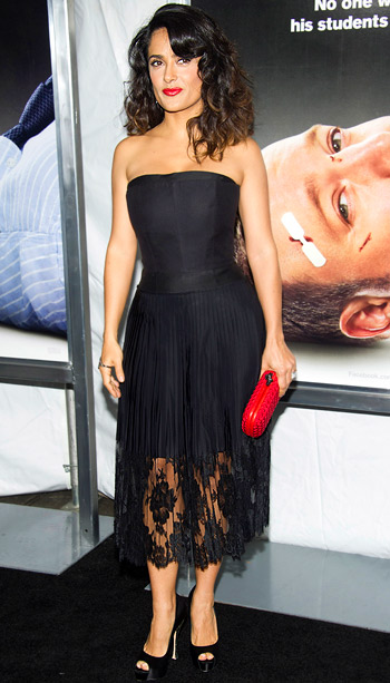 Salma Hayek (in Stella McCartney) at the premiere of Here Comes The Boom in New York City