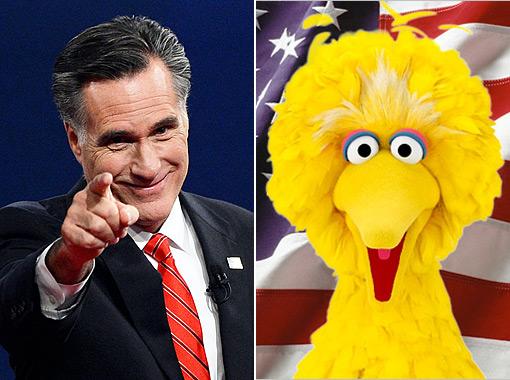 Romney Big Bird Split