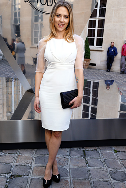Scarlett Johansson at the Tod's Signature event at Paris Fashion Week