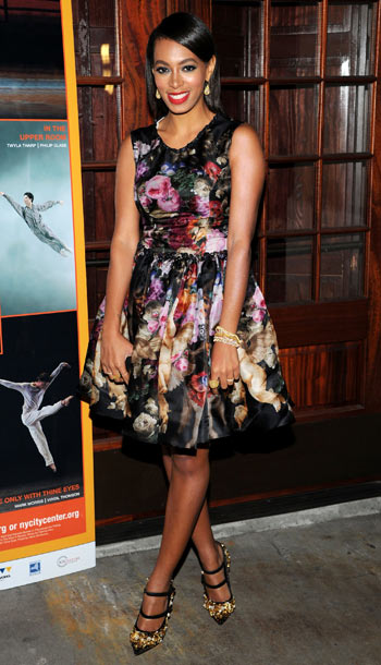Solange Knowles at the American Ballet Theatre opening night in New York City