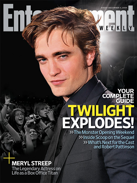 Robert Pattinson, Twilight | ''People make realistic CGI dragons, so you wouldn't think making people sparkle would be that hard,'' says Meyer. — Karen Valby