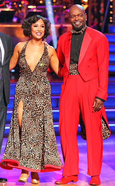 Dancing With the Stars | This is what happens when animal prints attack. Attack your sense of good taste, that is. Smith managed to pull off head-to-toe Pepto Bismol pink…