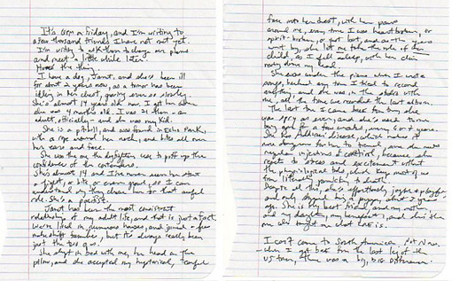 Fiona Apple Letter