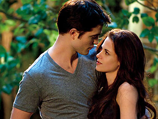 END OF SAGA Robert Pattinson and Kristen Stewart play Edward and Bella for the final time