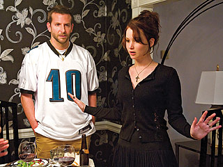 FOOTBALL FEVER Bradley Cooper moves back in with his parents after a stint at a mental institution in Silver Linings Playbook