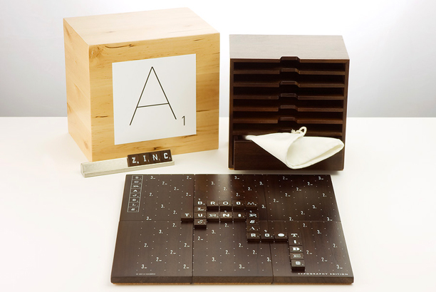 The classic word game gets a limited-edition upgrade in this set, which includes a solid walnut storage case, metal tile racks and letter tiles in…