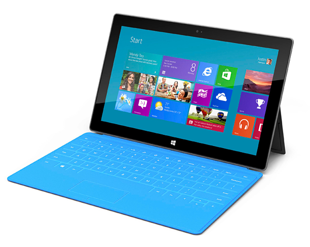 Microsoft's Surface distinguishes itself from other tablets with its keyboard cover and 10.6-inch widescreen display. (starting at $499; microsoftstore.com )