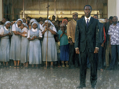 Hotel Rwanda, Don Cheadle | Maybe it's an overly sanitized depiction of the 1994 genocide in Rwanda — and maybe it arrived 10 years too late — but Terry George's…