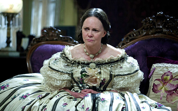 The two-time nominee (and two-time winner) is earning kudos for a caricature-free turn as the stalwart wife and grieving mother Mary Todd Lincoln.
