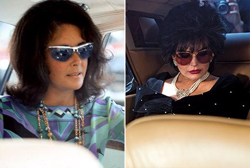 Lindsay Loahn Elizabeth Taylor Car