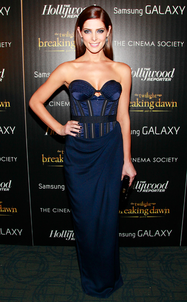 Ashley Greene (in Donna Karan Atelier) at the Breaking Dawn — Part 2 premiere in New York City