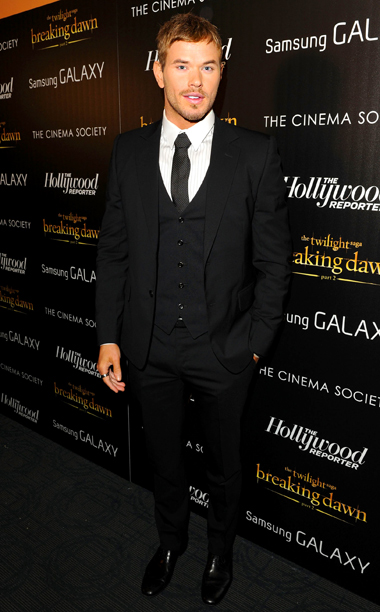 Kellan Lutz at the Breaking Dawn — Part 2 premiere in New York City