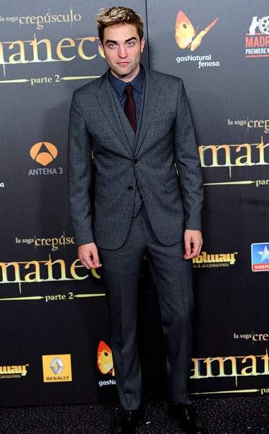Robert Pattinson (in Dolce & Gabbana) at the Breaking Dawn — Part 2 premiere in Madrid