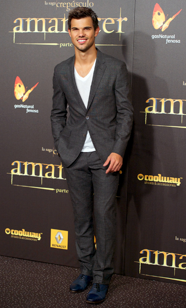 Taylor Lautner at the Breaking Dawn — Part 2 premiere in Madrid