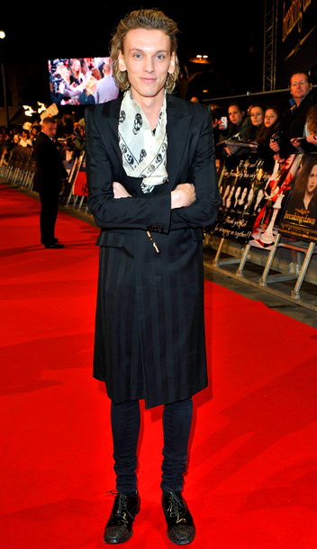 Jamie Campbell Bower at the Breaking Dawn — Part 2 U.K. premiere in London