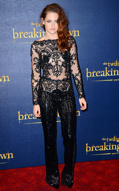 Kristen Stewart (in Zuhair Murad) at the Breaking Dawn — Part 2 U.K. premiere in London