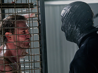 COLLECTION TIME Josh Stewart once again faces off against his old nemesis, The Masked Psycho