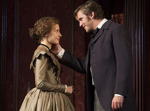THE HEIRESS Jessica Chastain and Dan Stevens