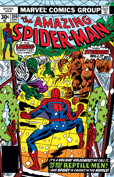 Peter Parker planned to join a friend at a holiday party but, wouldn't you know it, he's needed over at Central Park where dinosaurs are…