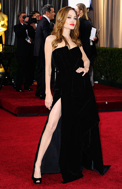 1. Angelina Jolie's Right Leg Steals the Spotlight