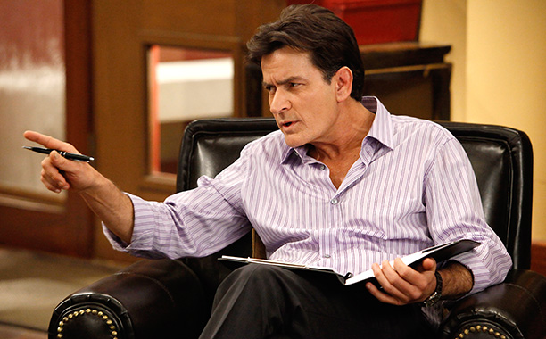 Charlie Sheen makes a triumphant return to TV! Well, no, let's just make that a ''return to TV.''