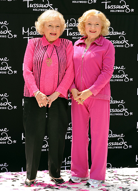 Betty White attends the unveiling of her wax figure at Madame Tussauds Hollywood