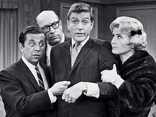 Dick Van Dyke Show Morey Amsterdam, Richard Deacon, Dick Van Dyke, and Rose Marie