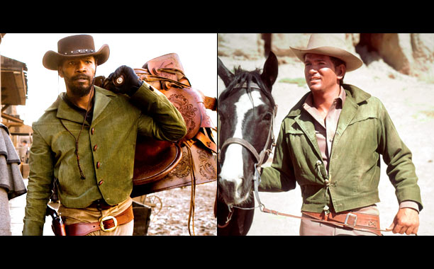 Michael Landon's character on the 1959-73 TV Western Bonanza inspired one of Django's costumes. ''That 'Little Joe' green jacket is a cool, sexy, all-purpose jacket,''…