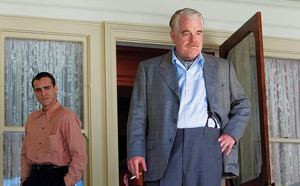 Philip Seymour Hoffman plays Lancaster Dodd, the charismatic leader of a 1950s spiritual movement that seems to have similarities to Scientology, the Hollywood-friendly belief system…