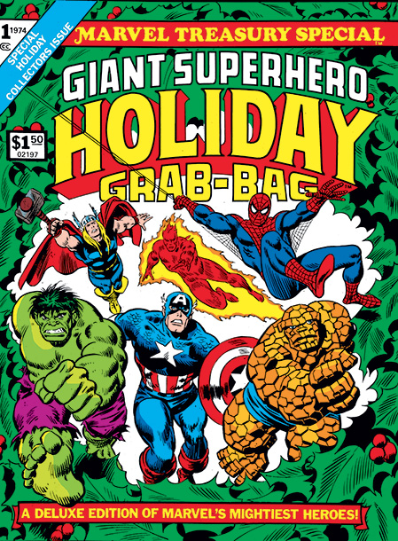 One of Marvel's early oversized Treasury editions, this 1974 beauty reprints two holiday-themed tales ( Have Yourself a Sandman Little Christmas! with Spider-Man and the…