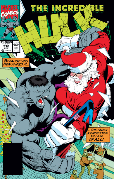 This cover from Christmas 1990 might be a headscratcher for some of you. You may be asking: Is that really the Hulk and if so,…