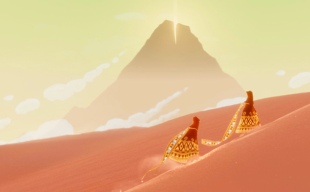 You're wandering through Journey 's bewitching, desiccated wastelands, struggling to unlock its many mysteries, and then, suddenly, another figure appears, controlled by an anonymous player…