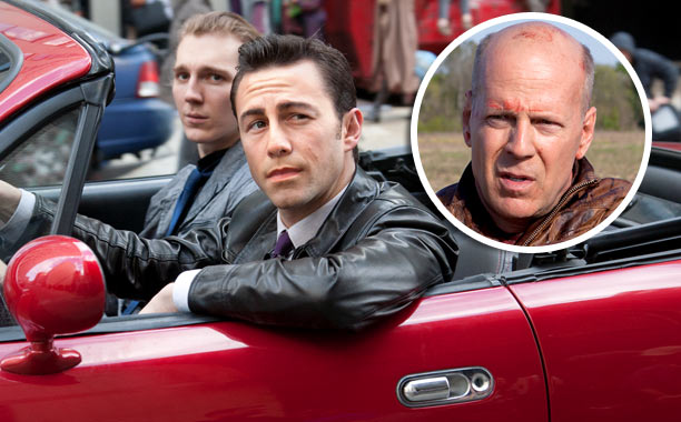 Though one can credit the time travel thriller's makeup team for a good effort, Joseph Gordon-Levitt as a younger version of hound dog-faced Bruce Willis?…