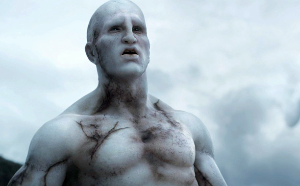So much visual ambition in Ridley Scott's prequel, and yet...why are the giant chalky white muscle-bound ''engineers'' so CGI-ed instead of done more realistically using…