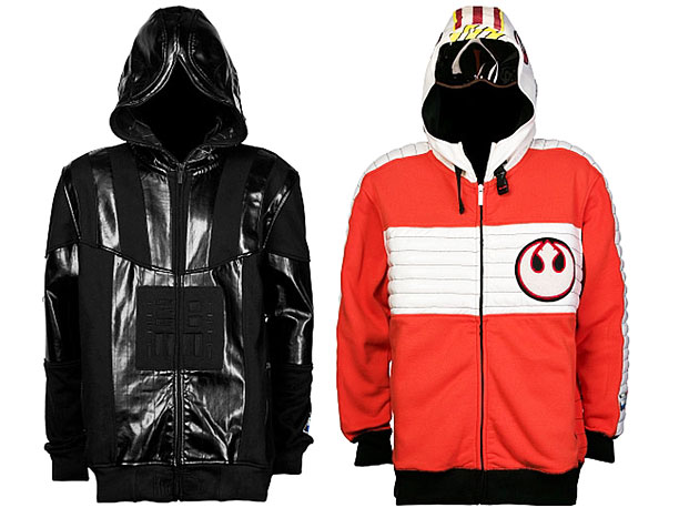 Star Wars | Part of a line of Star Wars -themed clothes by designer Ecko. The snazzy orange hoodie is the perfect thing for a night out on…