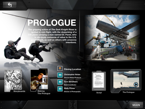 TDKR app prologue