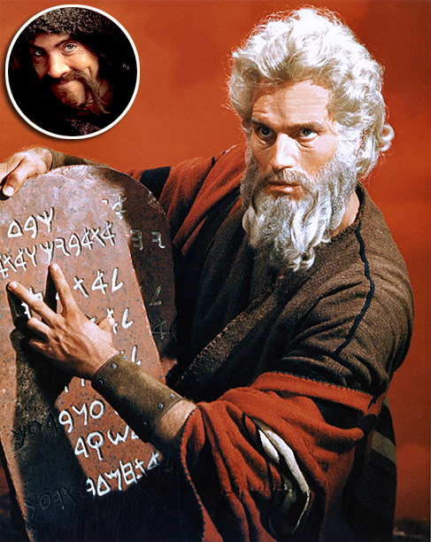 '' Charlton Heston's [Moses beard] was pretty good.''