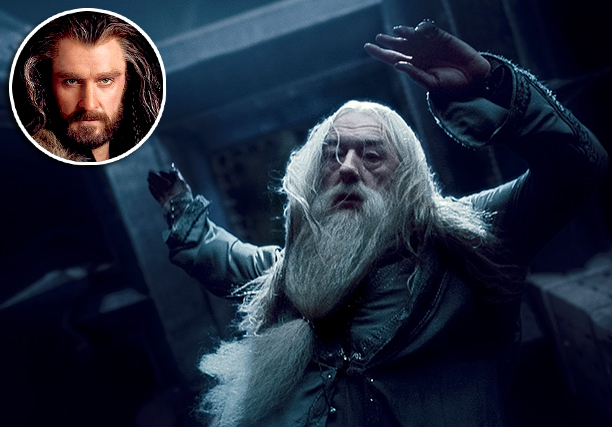 ''Has everyone not said Thorin Oakenshield? Then probably Dumbledore. Michael Gambon's Dumbledore — it's floor length!''