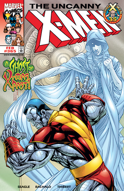 Most Marvel holiday covers hang their fur-lined hats on humor or a symbolic representation of community, tradition, altruism, or faith. Others, like this Uncanny X-Men…