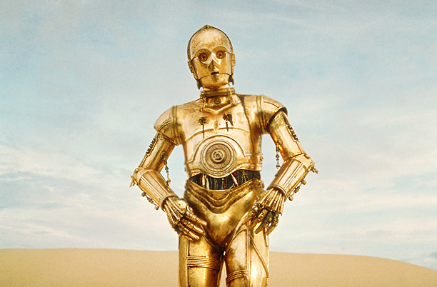 The gleaming machine man called C-3P0 (or ''See-Threepio'' for you old school Sith) is vainglorious, exasperating, judgmental, and persnickety. He's hyper-adept at the obscure (the…