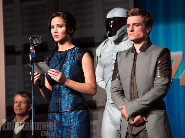 The Hunger Games   ''These are kids growing up in war who physically, emotionally can't love somebody,'' says Jennifer Lawrence about the uncomfortable triangle between District 12's battle-weary Katniss,…