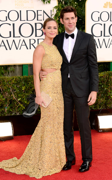 Golden Globe Awards 2013   Designer: Michael Kors (Blunt), Prada (Krasinski)