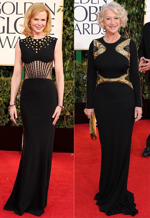 Golden Globes Kidman Mirren